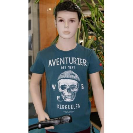 Tee Shirt Enfant Stered Aventurier Des Mers Petrol