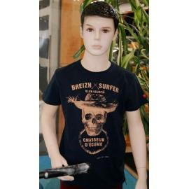 T-Shirt Child Stered Breizh Surfer Marin