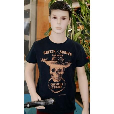 Tee Shirt Enfant Stered Breizh Surfer Marin