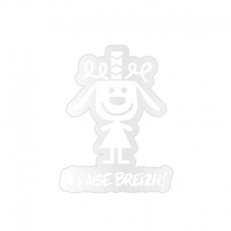 Sticker Family A L'Aise Breizh White Dog