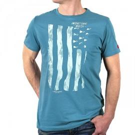 Gwenn Ha Lagoon Stered Flag Men's Tee Shirt