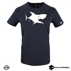 JDMB Men's Organic Tee Shirt Marine Shark