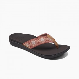 Tong Women REEF Ortho Bounce Dusty Coral Woven