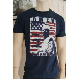 Men's Stered Awen Flag Navy Tee Shirt