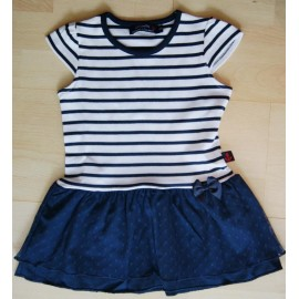 Baby Papylou Touquet Rayé Navy Dress