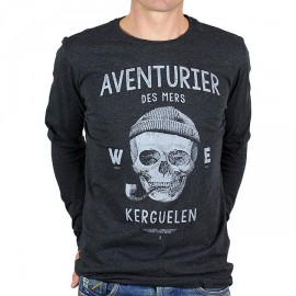 Tee Shirt STERED Aventurier Des Mers ML Anthracite