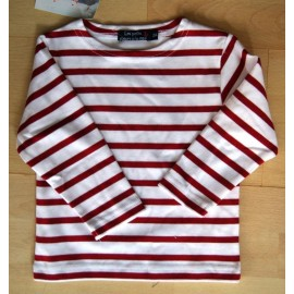 Sailor Long Sleeves Child PAPYLOU Navy Red Stripe