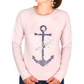 Sweat Femme Stered Ancre Envolée Rose Clair
