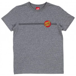 Santa Cruz Youth Tee Shirt Classic Dot Dark Heather