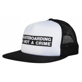 Santa Cruz Not A Crime Trucker Cap White Black
