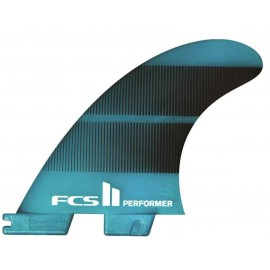 FCSII Performer Neo Glass Large Tri Fins Teal Gradient