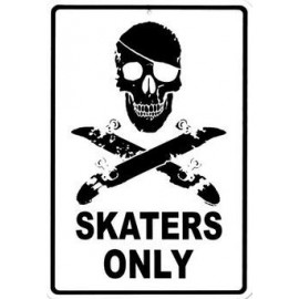 Plaque Alu Skaters Only Alu Plate