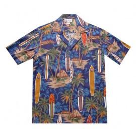 Chemise Aloha Republic Longboard Blue