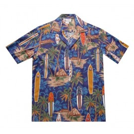 Aloha Republic Longboard Blue Shirt