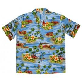 Aloha Republic Beach Woody Blue Shirt