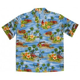 Chemise Aloha Republic Beach Woody Blue