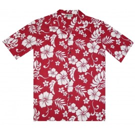 Aloha Republic Hibiscus Red Shirt