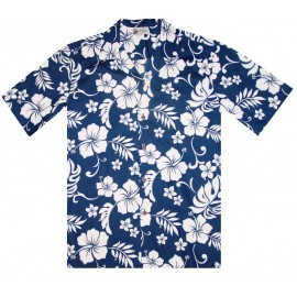 Aloha Republic Hibiscus Navy Shirt