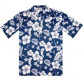 Aloha Republic Hibiscus Navy Shirt