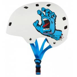 Bullet Santa Cruz Helmet Screaming Hand White