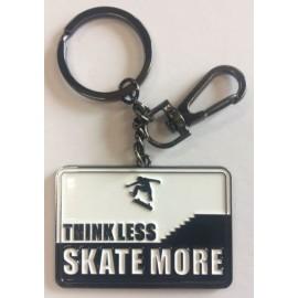 Porte Clés Think Less Skate More