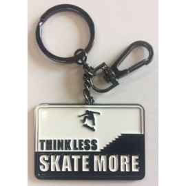 Think Less Skate More Keychain