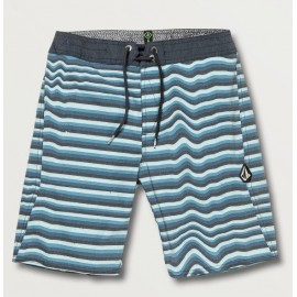 Boardshort Junior Volcom Aura Stripe Vintage Blue