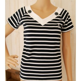V-neck Navy Plancoet Nautic Navy Top