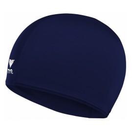 Bonnet De Bain En Tissu Lycra TYR Bleu Marine
