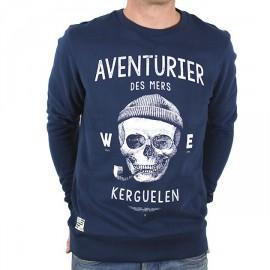 Crew Sweatshirt Stered Aventurier des Mers Navy