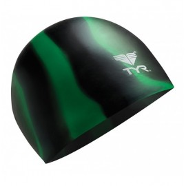 Swimming Cap SILICONE TYR Multi Black and Green