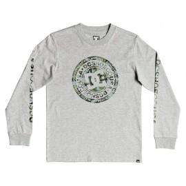 Tee Shirt Junior Manches Longues DC Circle Star Grey Heather