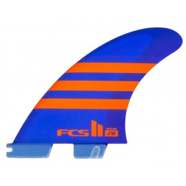 Ailerons FCSII JW PC Medium Aircore Tri Fins Blue Orange