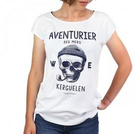 Tee Shirt Femme STERED Aventurier Des Mers Blanc