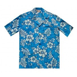 Aloha Republic Hibiscus Blue Shirt