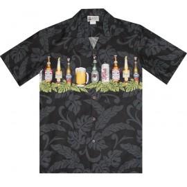 Aloha Republic Shirt Tiki Bar Black