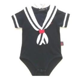 Baby Bodysuit Papylou Tarnos Marine Marine Collar