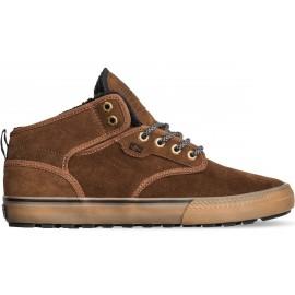 Globe Motley Mid Shoes Partridge Brown Gum Fur