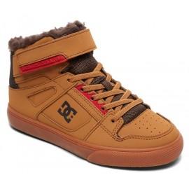Chaussures DC Junior Pure High-Top WNT EV Wheat Dark Chocolate