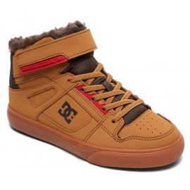 DC Junior Pure High-Top Shoes WNT EV Wheat Dark Chocolate