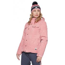 PROTEST Cushioned Velvet Ski Jacket Think Pink