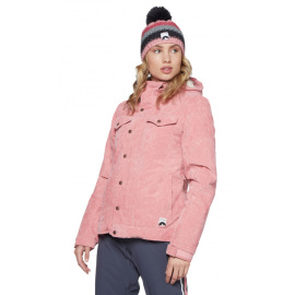 PROTEST Cushioned Velvet Ski Jacket Think Pink