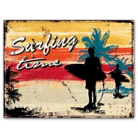 Surfing Time Metal Plate