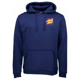 Santa Cruz Flame Junior Hand Hood Sweatshirt Dark Navy