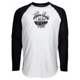 Santa Cruz Horizon Tee Shirt Long Sleeves Black White