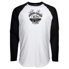 Santa Cruz Horizon Tee Shirt Long Sleeves Black White