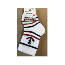 Socks Bebé Escale Nautic Chaussmer White Navy Red