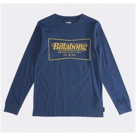 BILLABONG Trade Mark Navy Junior Long Sleeve Tee