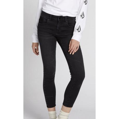 VOLCOM Women's Rockout III Skinny Vintage Black Pant
