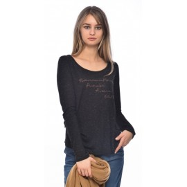 Banana Moon Long Sleeve Tee Shirt Melor Weekly Black